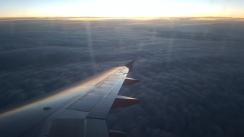 Lever du jour depuis l'avion.