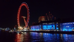 London Eye de nuit.