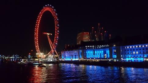London Eye de nuit.