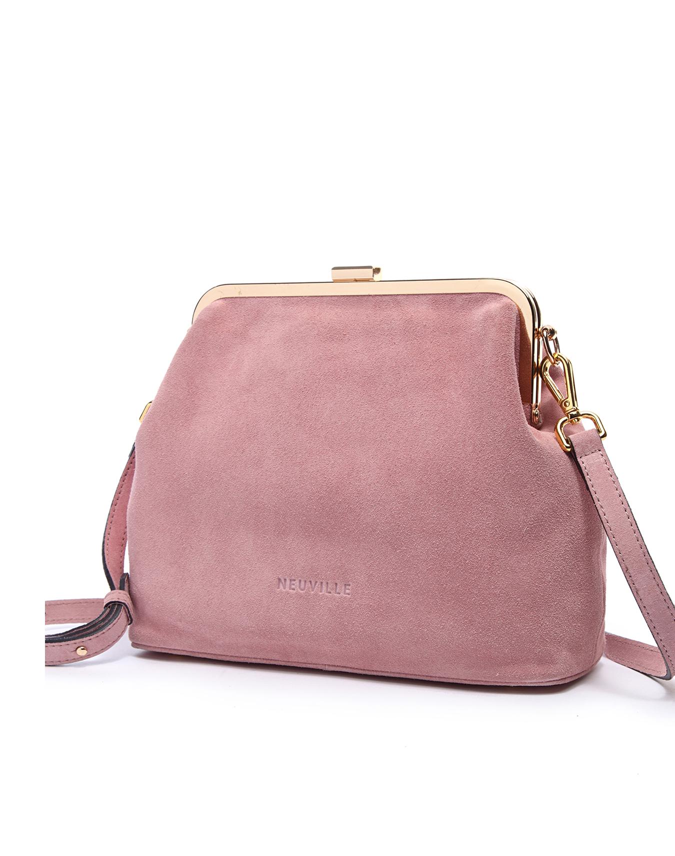 Sac rose de la marque Neuville Bags, modèle Clip.