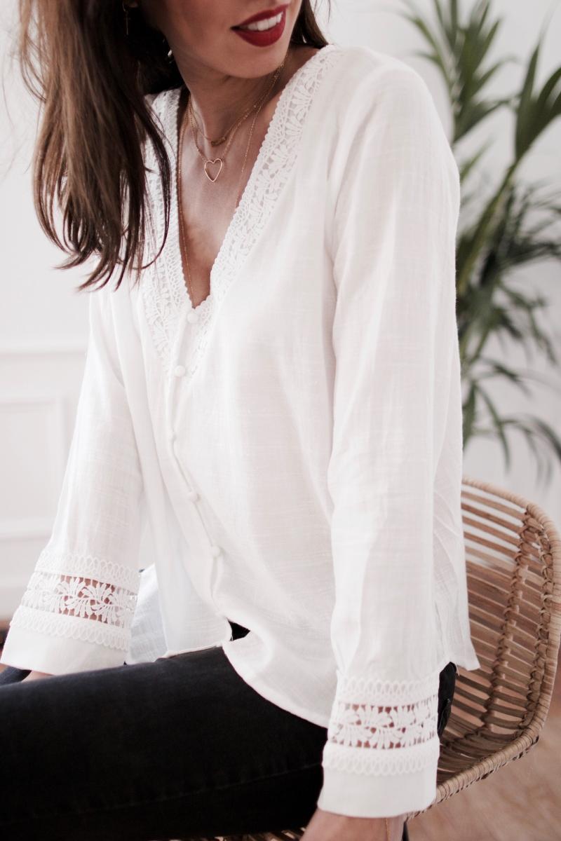 Sélection shopping de Mademoiselle Miaouss, blouse fluide Pretty Wire, collection printemps été 2018
