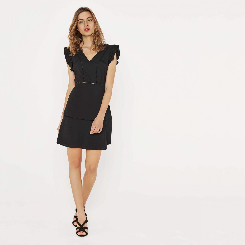 Sélection shopping Mademoiselle Miaouss, robe noire ajourée DDP Woman.