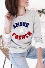 Sélection shopping de Mademoiselle Miaouss, sweat shirt Amour is French de Pretty Wire