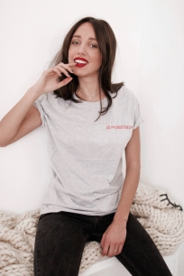 Sélection shopping de Mademoiselle Miaouss, tee-shirt Amoureuse Pretty Wire